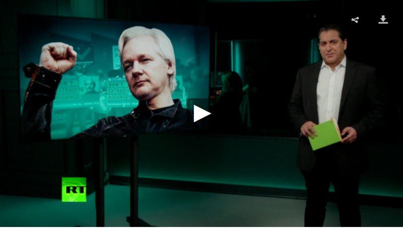 Going underground Assange fighting.