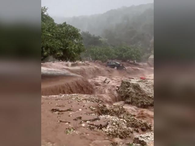 Devastating storm WASHES BEACH AWAY on Greek island of Kefalonia (VIDEOS)