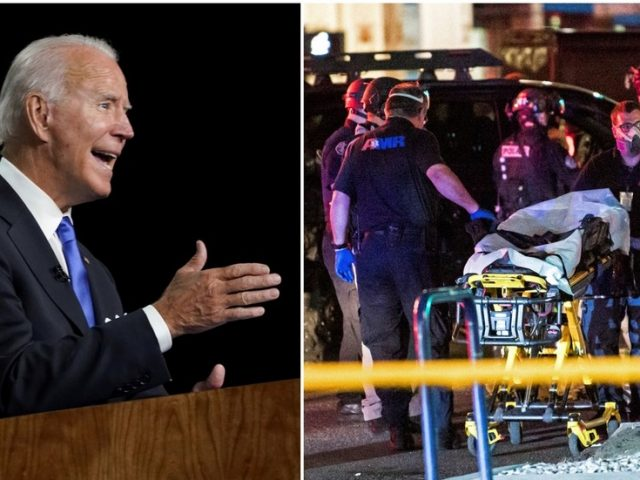 Trump slams 'Radical Left Mayors & Governors' for allowing 'crazy violence' that has forced 'Slow Joe' Biden 'out of basement'