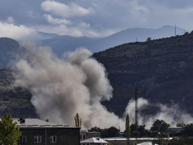 Explosions reported in Nagorno-Karabakh, Baku accuses Armenia of shelling Azerbaijani town just hours into ceasefire