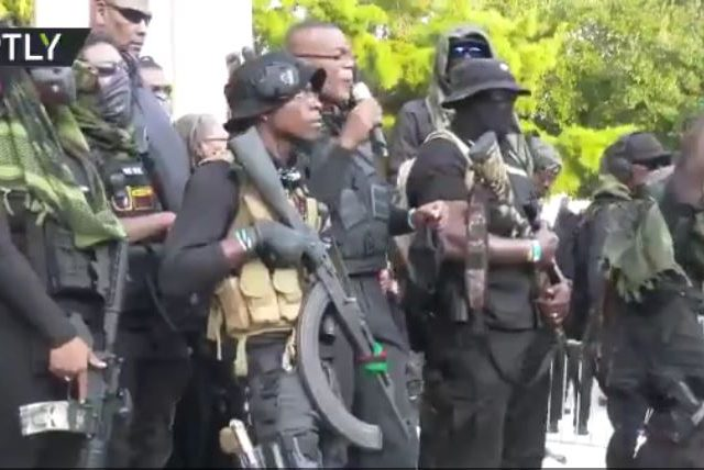 WATCH heavily armed black militia march through the streets of Lafayette, LA