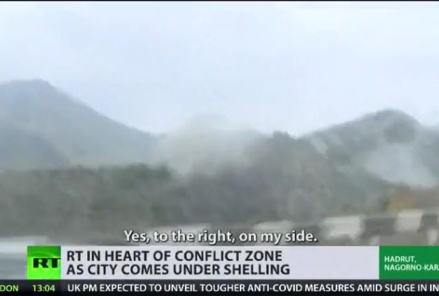 The 'least-safe' place in Nagorno-Karabakh: RT crew films small town under constant bombardment despite declared truce (VIDEO)