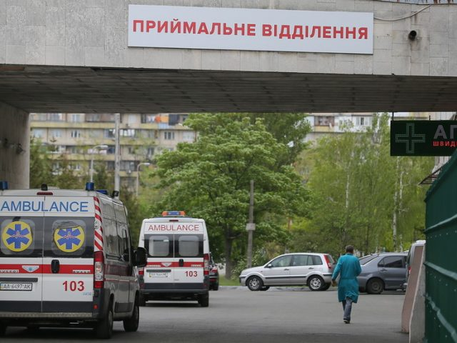 Reports of Covid patients leaping from Ukrainian hospital windows in tragic suicide bids as health system 'on brink of collapse'
