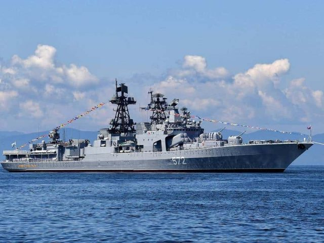 Russian Warship Warned US Destroyer to Turn Around or Be Rammed