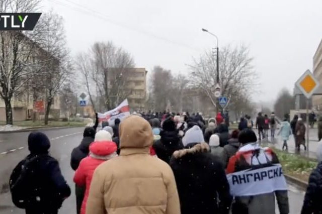 Protestors and police clash in Belarus days after embattled President Lukashenko promises he'll stand down… but not yet