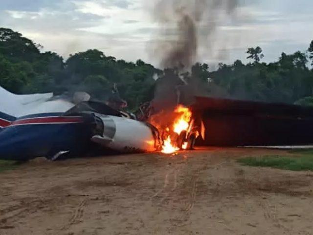 Venezuelan National Guard Destroy US-Registered 'Narcojet' and Jungle Airstrip