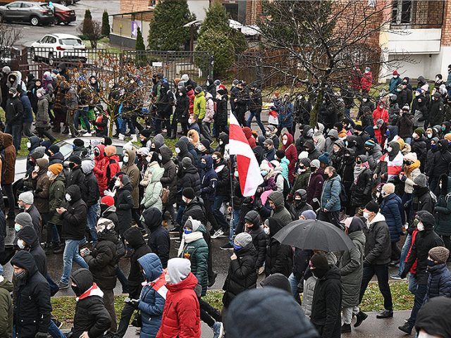 Authorities clash with protesters in Belarus as exiled Tikhanovskaya warns riot police could be listed as 'terrorists' by EU