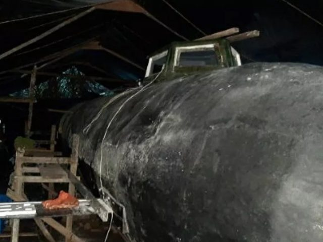 Photos: Colombian Navy Finds Rare Electric Mini-Submarine During Drug Raid