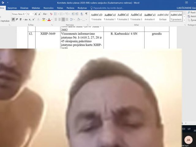 Anti-LGBT Lithuanian lawmaker accidentally caught on camera with naked man in work from home blunder (VIDEO)