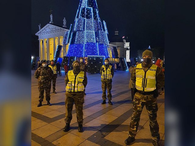 Lithuania deploys ARMED MILITIA to guard CHRISTMAS TREE and enforce tough new Covid-19 measures