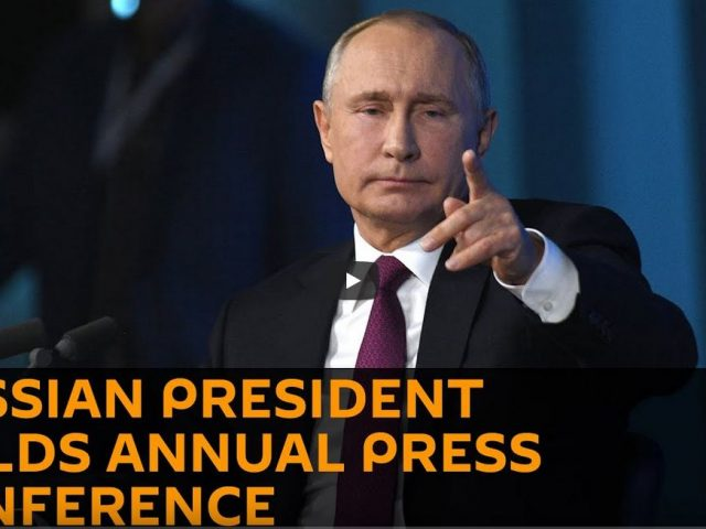 Russian President Vladimir Putin Holds Annual Press Conference