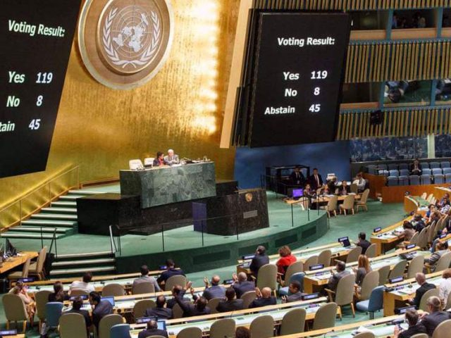 UN General Assembly adopts five anti-Israeli resolutions