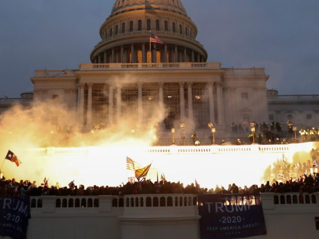 Chaos & protests continue outside US Capitol as DC mayor declares curfew, National Guard fully activated