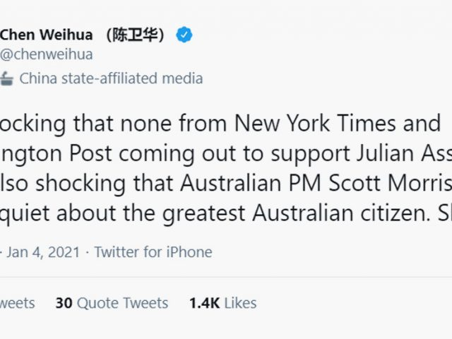 'It's shocking': China Daily chief calls out NYT, WaPo, & Australian PM for refusal to defend Julian Assange