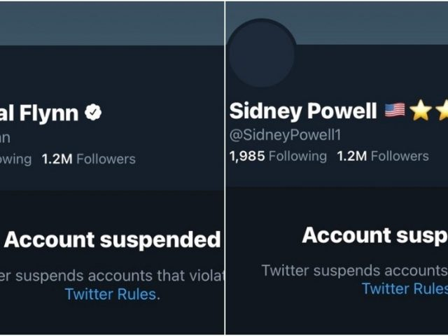 Twitter purges lawyer Sidney Powell, General Flynn & others amid post-Capitol crackdown on 'QAnon'