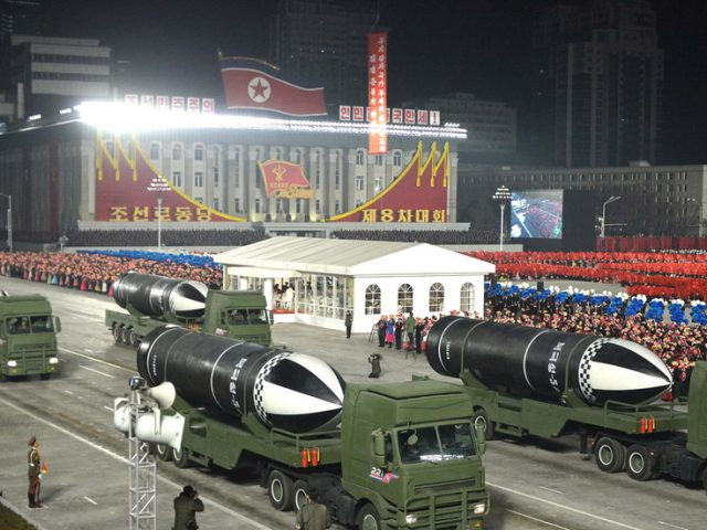North Korea unveils 'world's most powerful weapon' at military parade to mark 1st party congress in 5 years (PHOTOS)