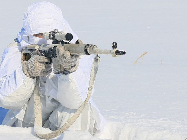 Russian snipers train for frosty fights in minus 35 degrees amid wider plans to increase Arctic warfare capabilities