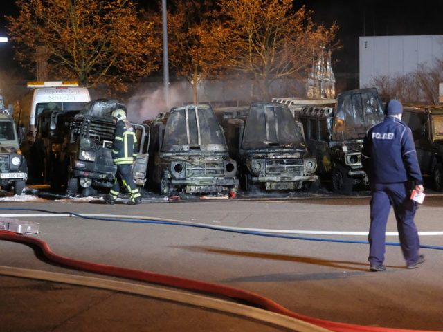 Multiple Bundeswehr vehicles 'extensively damaged' during suspected arson attack in Leipzig