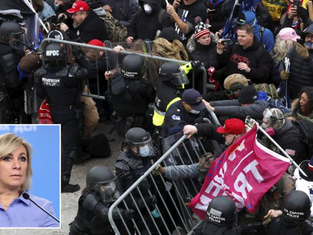 Russia says American system 'archaic' & not up to 'modern democratic standards' after rioters raid Washington's Capitol building