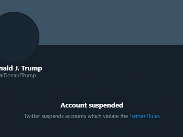 Twitter PERMANENTLY suspends Trump over how his tweets might be 'received and interpreted'