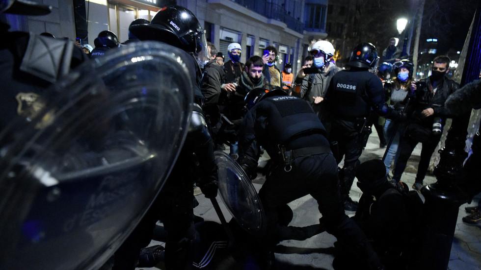 Protests turned violent