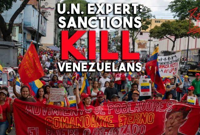 UN expert details crushing human toll of US sanctions on Venezuela