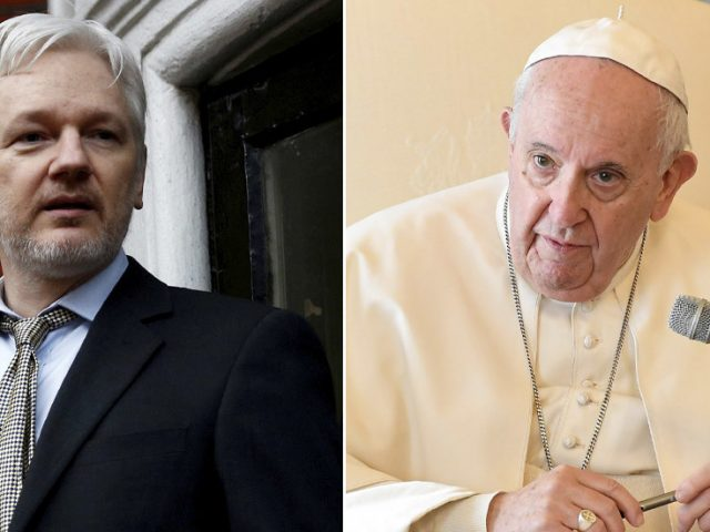 Pope sends Julian Assange personal message to his jail cell, partner says