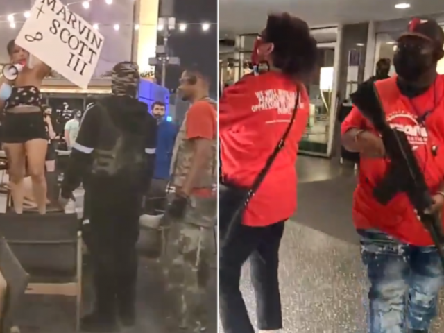 'Silence is violence': ARMED Black Lives Matter protesters in Dallas take over restaurant, picket hotel