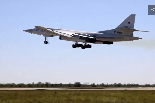 Russian bomber jets practice taking out targets with cruise missiles in Arctic, just weeks after warning US to steer clear (VIDEO)