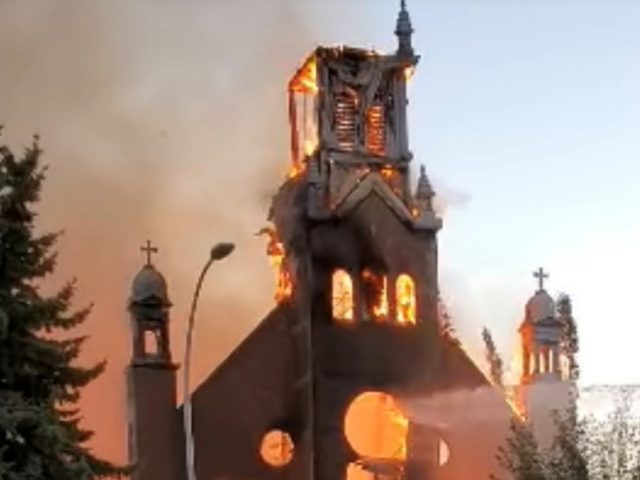 Trudeau condemns spate of arson attacks on Catholic churches as Canada reels from unmarked graves scandal