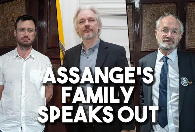 Julian Assange's father and brother travel to Washington to oppose US extradition
