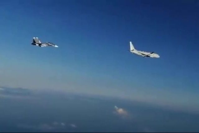 WATCH: Russia scrambles two fighter jets as American P-8 Poseidon plane flies over Black Sea during NATO military exercises