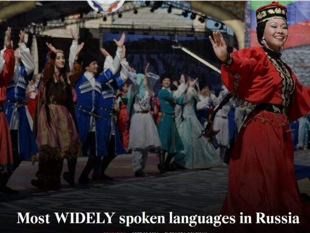 Most WIDELY spoken languages in Russia