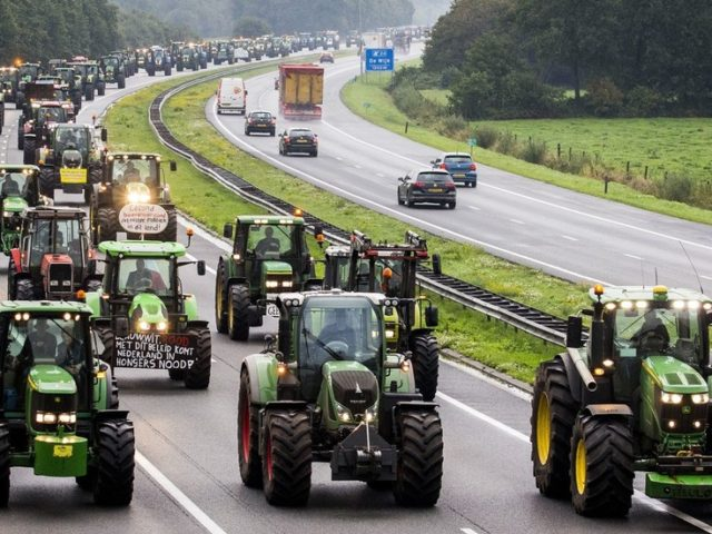 Dutch farmers clog highways in protest at politicians labeling them climate change problem