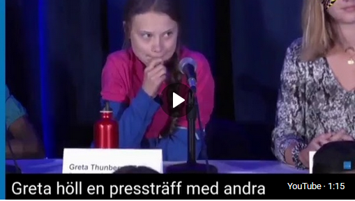 Greta Thunberg without a script to read from
