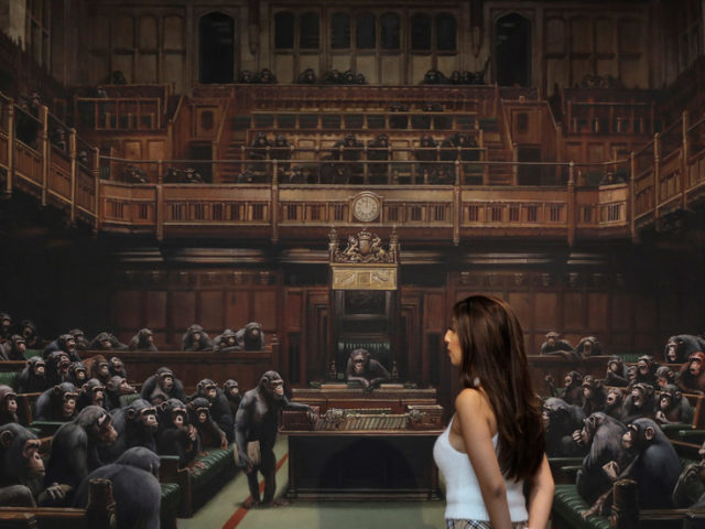 How apropos: Banksy painting of Parliament as monkeys sells for record sum amid Brexit drama
