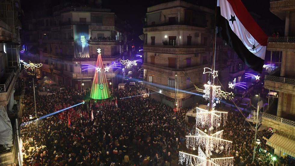 Christmas tree in Aleppo's