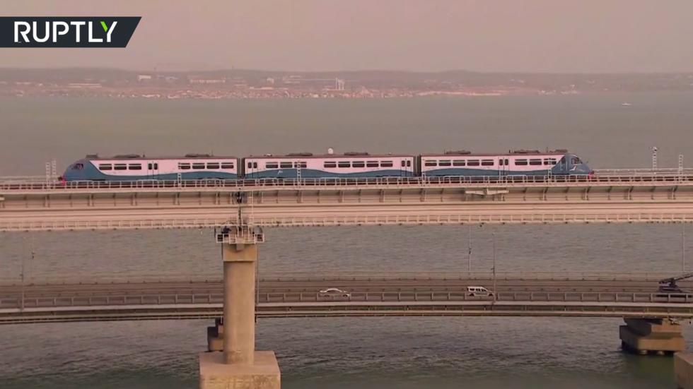 Crimea Bridge as Putin
