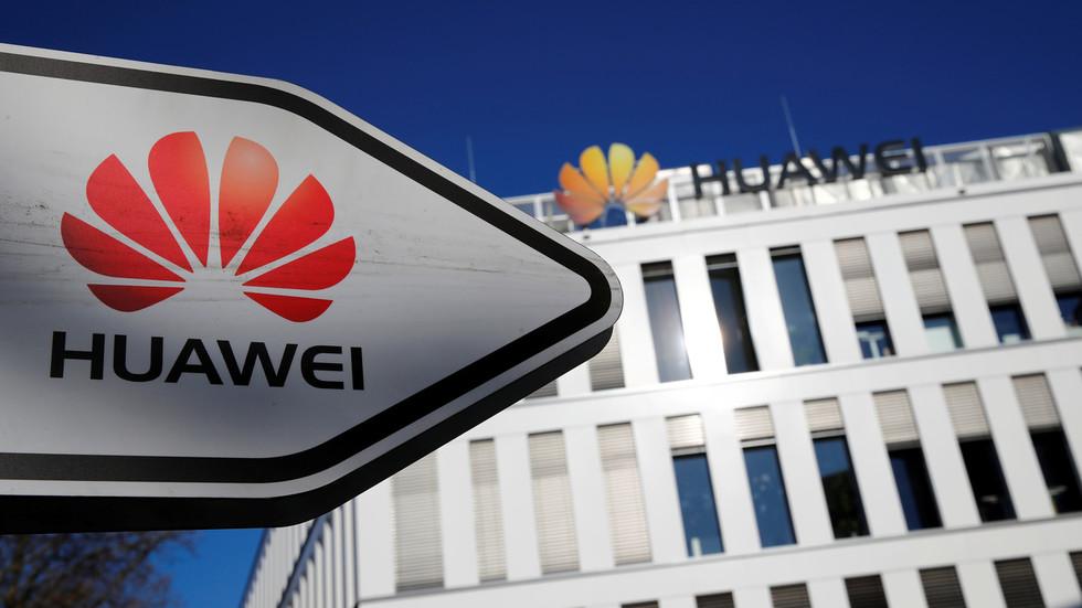 The logo of Huawei