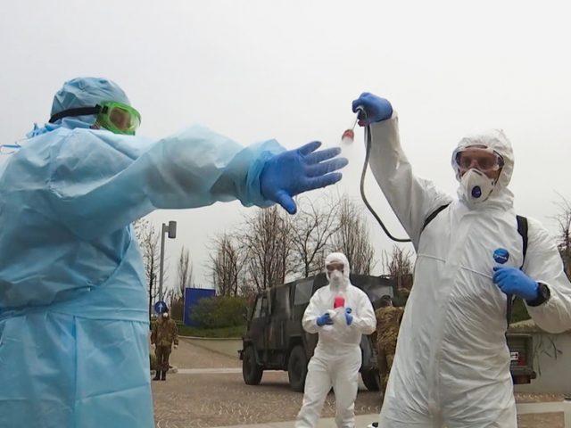 Surveying the virus battlefield: Russian military medics inspect Covid-19 health facilities in Bergamo, Italy (VIDEO)