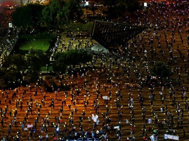 Anti-Netanyahu 'Black Flag' Protesters Gather on Tel Aviv's Rabin Square – Video