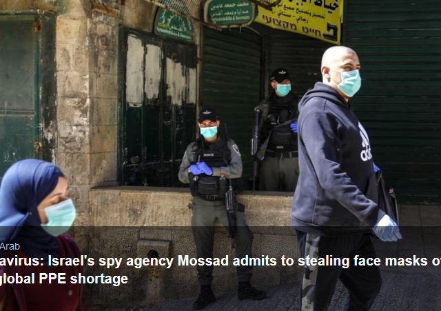Coronavirus: Israel's spy agency Mossad admits to stealing face masks overseas amid global PPE shortage