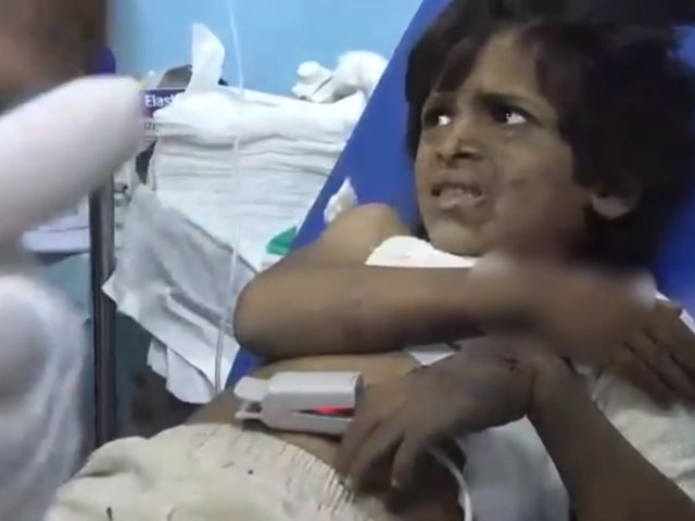 Wounded children treated in Yemen hospital after Saudi airstrike hits residential area (VIDEO)