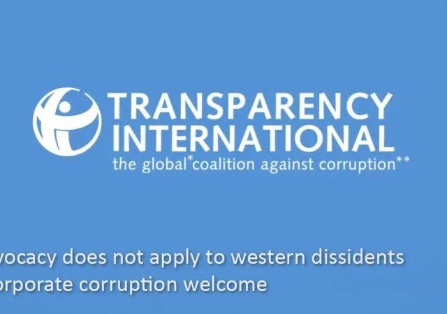 State Dept-funded Transparency International goes silent on jailed transparency activist Julian Assange