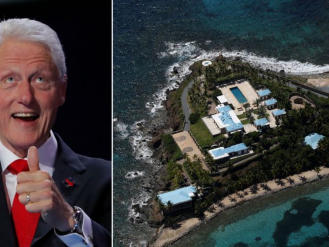 'Can't make this up': Photos of Bill Clinton being MASSAGED by Epstein 'sex slave' surface just in time for Dem convention speech