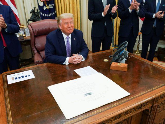 Trump says 'historic' Israel-UAE deal on diplomatic ties will 'suspend' Israeli annexation of Palestinian lands