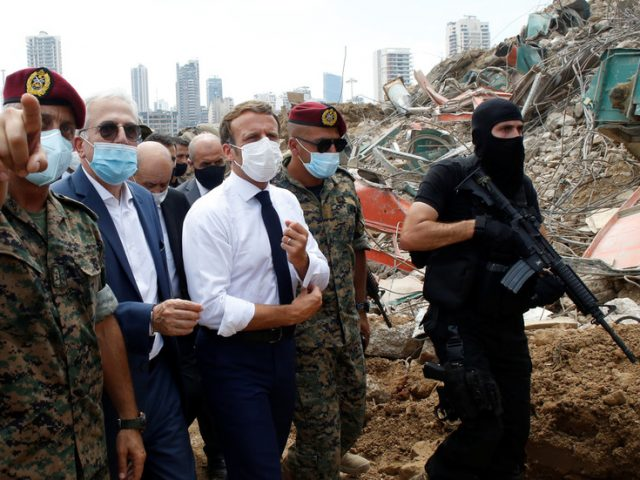 Macron says 'Lebanon is not alone' as he visits devastated Beirut, gets quickly blasted for hypocrisy