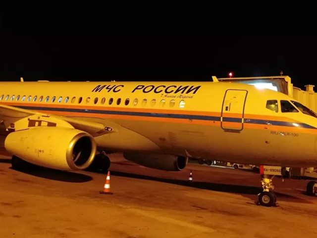 Russian Emergencies Ministry's 1st Plane With Aid Lands in Beirut – Video