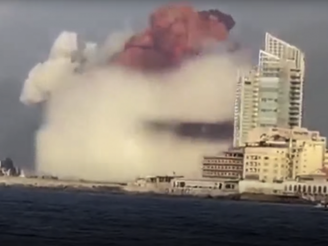 WATCH huge mushroom-like cloud cover Beirut's docks area after 'fireworks depot' explodes