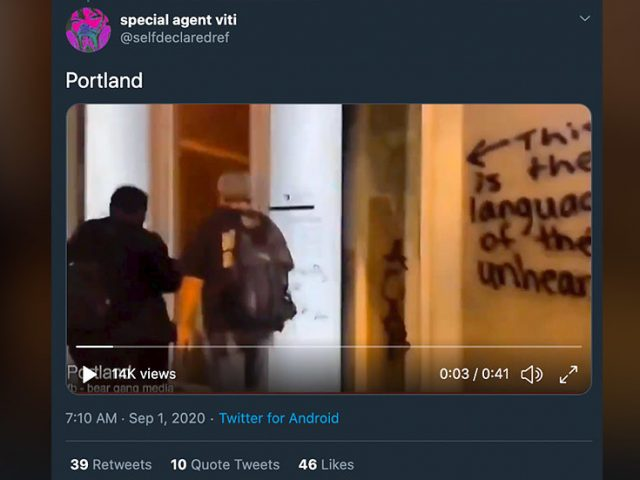 WATCH: 'Antifa' militants set fire to black-owned business in Portland, bombard mayor's apartment with fireworks